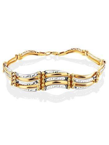 Ultra Feminine Mixed Gold Bracelet, image