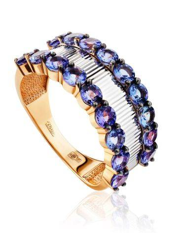 Fabulous Gold Tanzanite Band Ring, Ring Size: 8.5 / 18.5, image