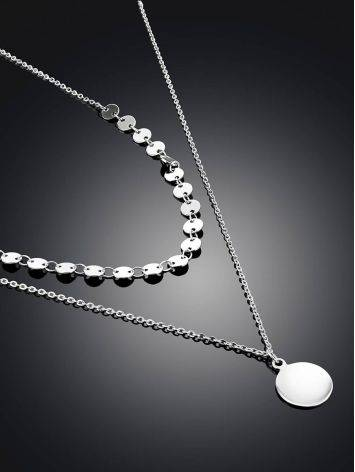 Fashionable Double Strand Silver Necklace The Liquid, image , picture 2