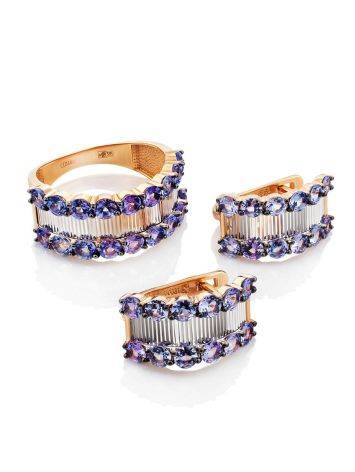 Gorgeous Gold Tanzanite Earrings, image , picture 3