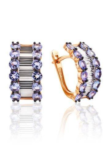 Gorgeous Gold Tanzanite Earrings, image