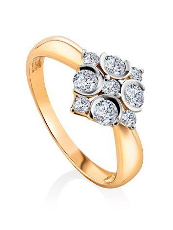 Refined Gold Crystal Ring, Ring Size: 8.5 / 18.5, image