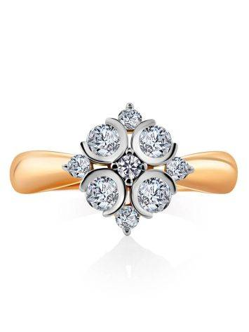Refined Gold Crystal Ring, Ring Size: 8.5 / 18.5, image , picture 3