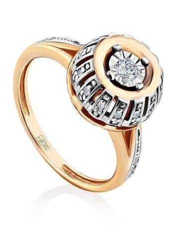 Gorgeous Gold Diamond Ring, Ring Size: 5.5 / 16, image