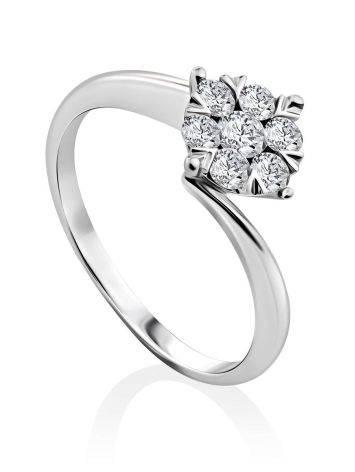 Stylish White Gold Diamond Ring, Ring Size: 6.5 / 17, image