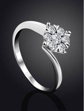 Stylish White Gold Diamond Ring, Ring Size: 6.5 / 17, image , picture 2