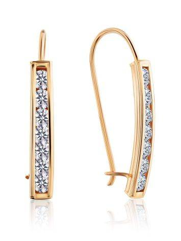Chic Gold Crystal Earrings, image