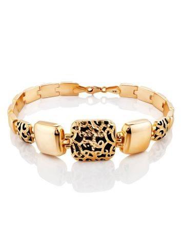 Designer Gold Enamel Link Bracelet, image