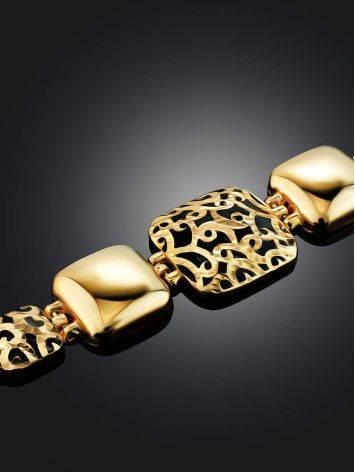 Designer Gold Enamel Link Bracelet, image , picture 2