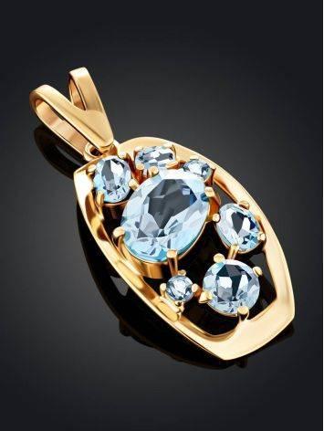 Chic Gold Topaz Pendant, image , picture 2