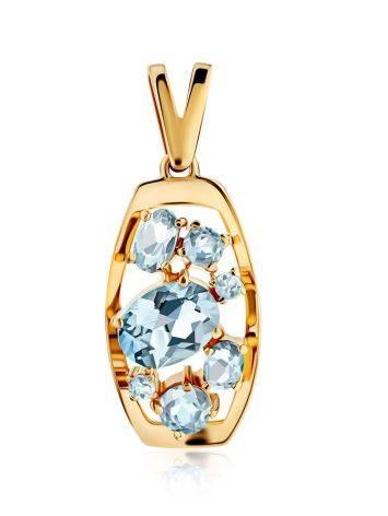 Chic Gold Topaz Pendant, image