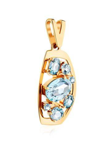 Chic Gold Topaz Pendant, image , picture 3