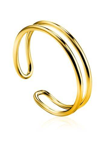 Stylish Gilded Silver Double Band Ring The ICONIC, Ring Size: Adjustable, image
