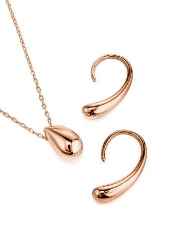 Statement Rose Plated Silver Drop Earrings The Liquid, image , picture 4