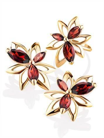 Wonderful Golden Garnet Earrings The Verbena, image , picture 4