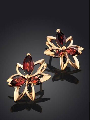 Wonderful Golden Garnet Earrings The Verbena, image , picture 2