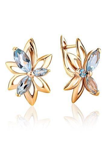 Floral Design Gold Topaz Earrings The Verbena, image