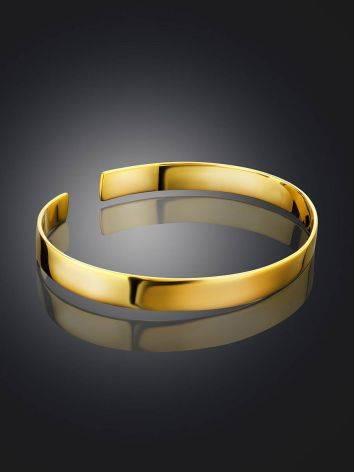 Minimalist Gilded Silver Bangle Bracelet The ICONIC, image , picture 2