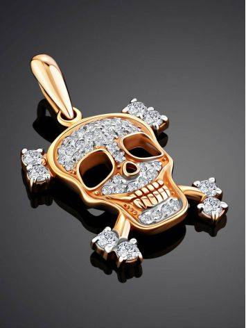 Gold Crystal Skull Pendant, image , picture 2