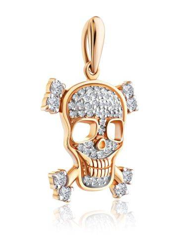 Gold Crystal Skull Pendant, image , picture 3