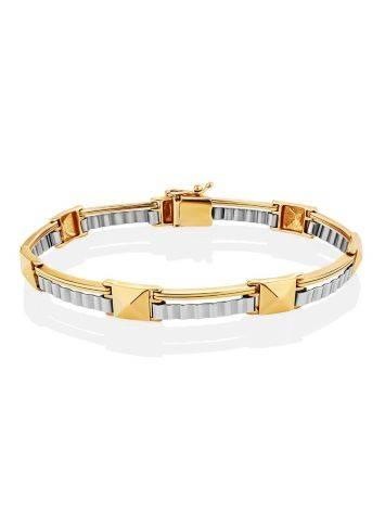 Stylish Unisex Two Tone Gold Bracelet, image