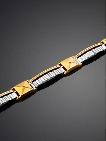 Stylish Unisex Two Tone Gold Bracelet, image , picture 2