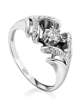 Fabulous White Gold Diamond Ring, Ring Size: 8 / 18, image