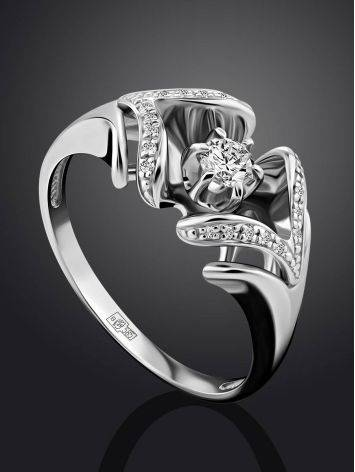 Fabulous White Gold Diamond Ring, Ring Size: 8 / 18, image , picture 2