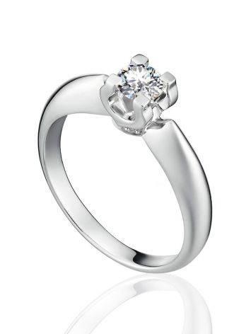 Statement White Gold Diamond Ring, Ring Size: 6 / 16.5, image