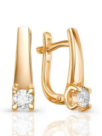 Yellow Gold Diamond Statement Earrings, image