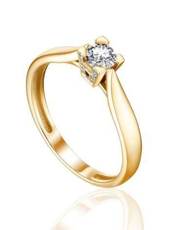 Stylish Gold Diamond Ring, Ring Size: 8.5 / 18.5, image