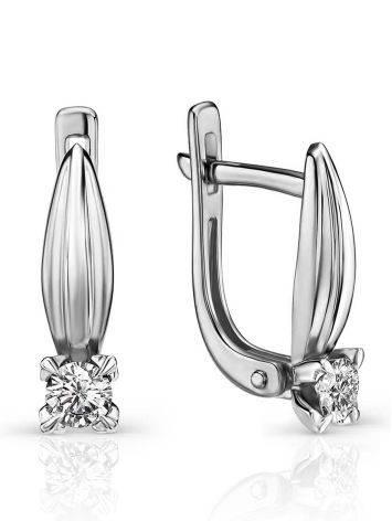 Versatile White Gold Diamond Earrings, image