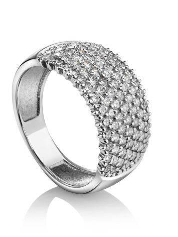 Fabulous White Gold Diamond Band Ring, Ring Size: 7 / 17.5, image