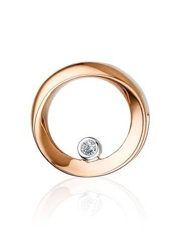 Round Gold Diamond Pendant, image