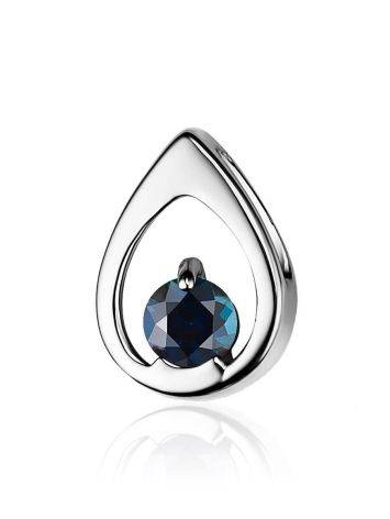 Laconic Design White Gold Sapphire Pendant, image