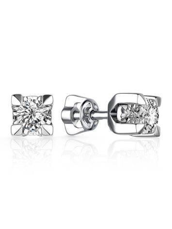 White Gold Diamond Stud Earrings, image