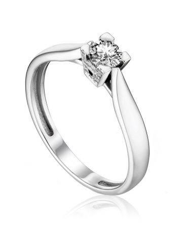 Stylish Versatile White Gold Diamond Ring, Ring Size: 7 / 17.5, image