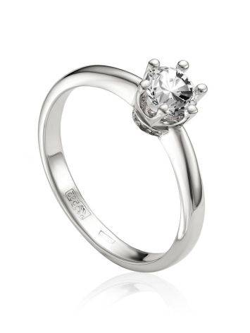 Lustrous White Gold  Diamond Ring, Ring Size: 6 / 16.5, image
