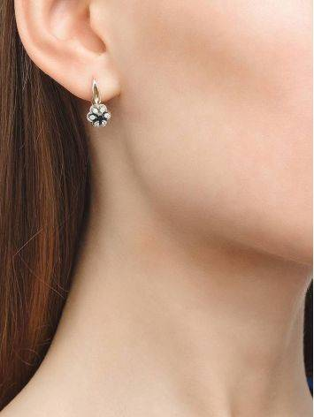 Classic Gold Diamond Latch Back Earrings, image , picture 2