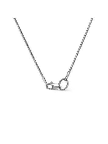 Fabulous White Gold Sapphire Diamond Necklace, Length: 50, image , picture 3