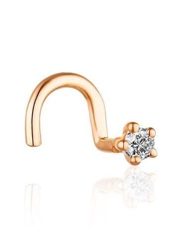 Trendy Gold Diamond Nostril Piercing, image