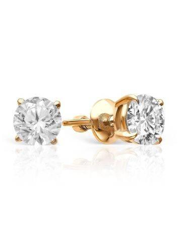 Versatile Gold Diamond Stud Earrings, image