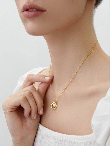 Amazing Gold Plated Silver Necklace The Liquid, image , picture 3