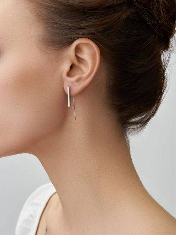 Designer Silver Threader Earrings The ICONIC, image , picture 3