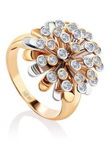 Rotating Motion Gold Diamond Ring, Ring Size: 8.5 / 18.5, image