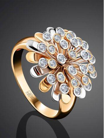Rotating Motion Gold Diamond Ring, Ring Size: 8.5 / 18.5, image , picture 2