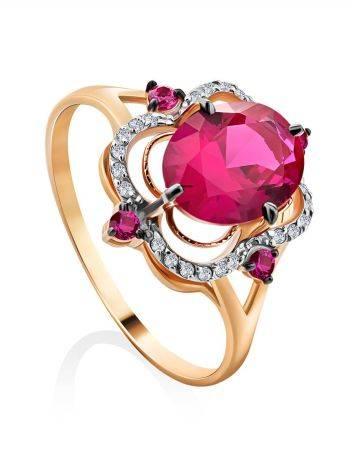 Gorgeous Gold Diamond Ruby Ring, Ring Size: 9.5 / 19.5, image