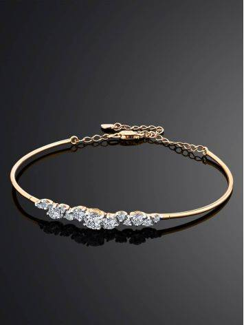 Chic And Classy Gold Crystal Bangle Bracelet, image , picture 2
