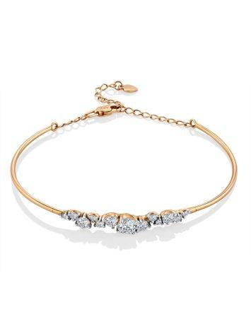 Chic And Classy Gold Crystal Bangle Bracelet, image