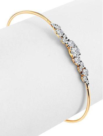Chic And Classy Gold Crystal Bangle Bracelet, image , picture 3